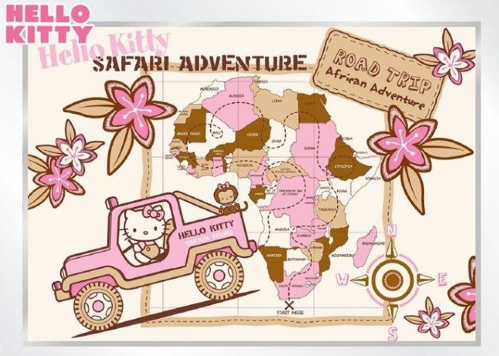 Fototapeta na flizelinie hello kitty safari xxl
