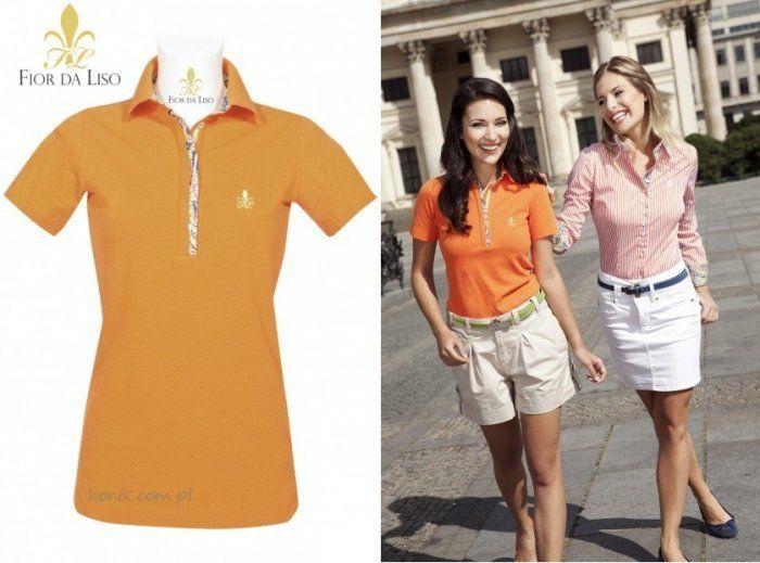Koszulka polo CLASSIC NEW damska - FIOR DA LISO - orange