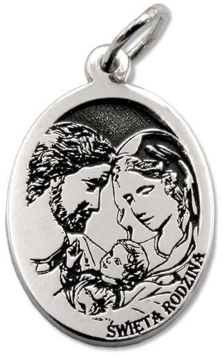 Medalik srebrny Święta Rodzina MED-SW-RODZ-02