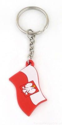 Brelok gumowy flaga polski