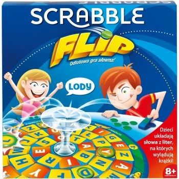 Mattel Gra Scrabble Flip Polska Wersja CJN65