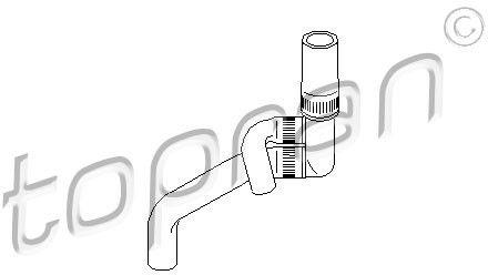 Przewód elastyczny chłodnicy TOPRAN 109 020