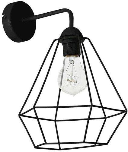 Kinkiet nowoczesny druciana lampa ALMA czarny - czarny
