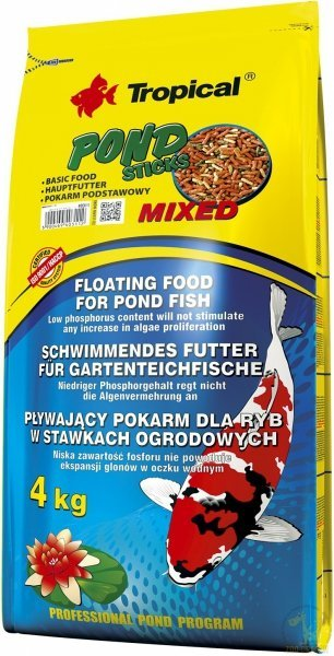 Tropical Pond Sticks Mixed - worek 4kg