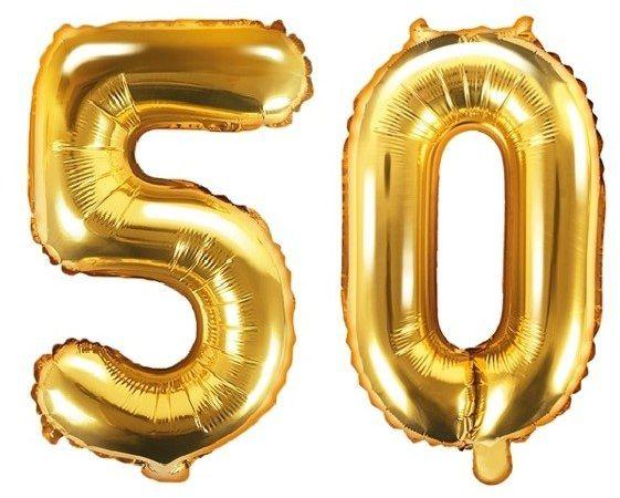 Balony foliowe 50 złote 35cm FB10M-50-019
