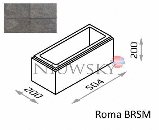 Bloczek murkowy Roma BRSM 50,4/20/20 kolor gagat / Joniec