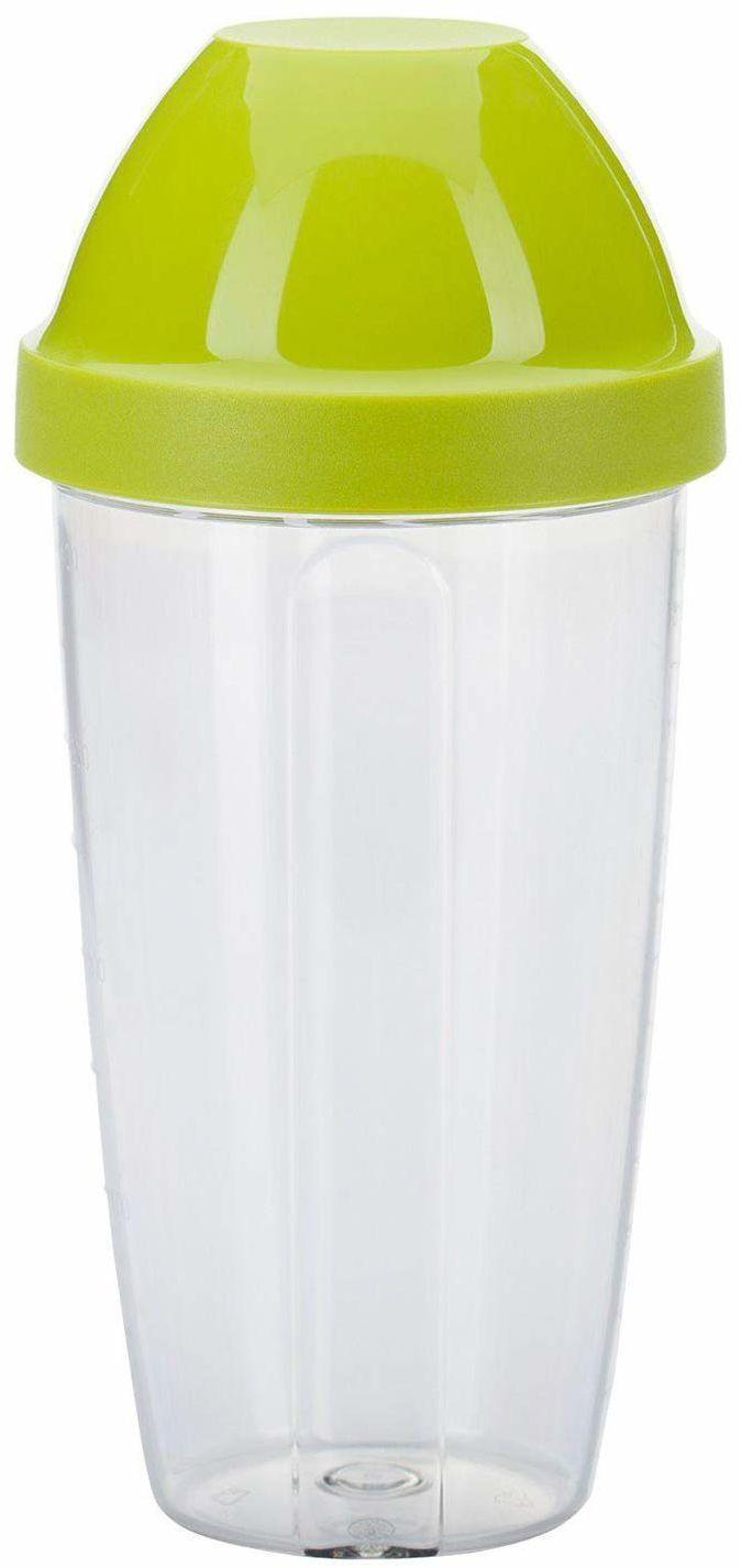 Westmark Kubek do miksowania i shaker z wyjmowaną nakładką mieszającą, Pojemność: 0,5 l, Wysokość: 18,7 cm, Tworzywo sztuczne, BPA-free, Maxi, Kolor: Przezroczysty/Zielony, 3090227A