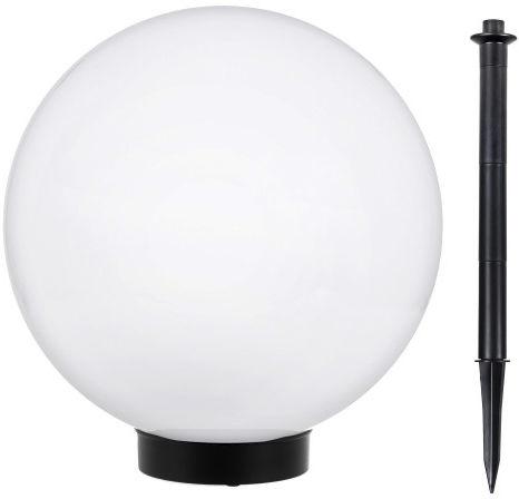Solarna lampa wolnostojąca ogrodowa GB168 - kula 30x30x63 cm, bialy LED
