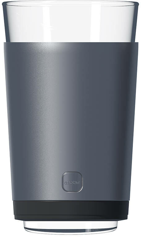 Pojemnik termiczny na piwo ze szklanką Asobu Insulated Beer Kuzie - silver