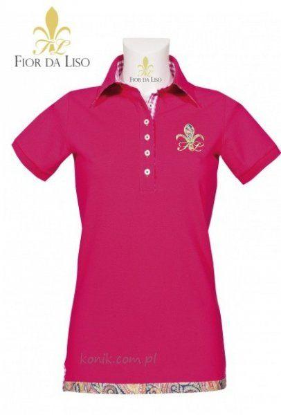Koszulka polo SPORTY damska - FIOR DA LISO - ruby