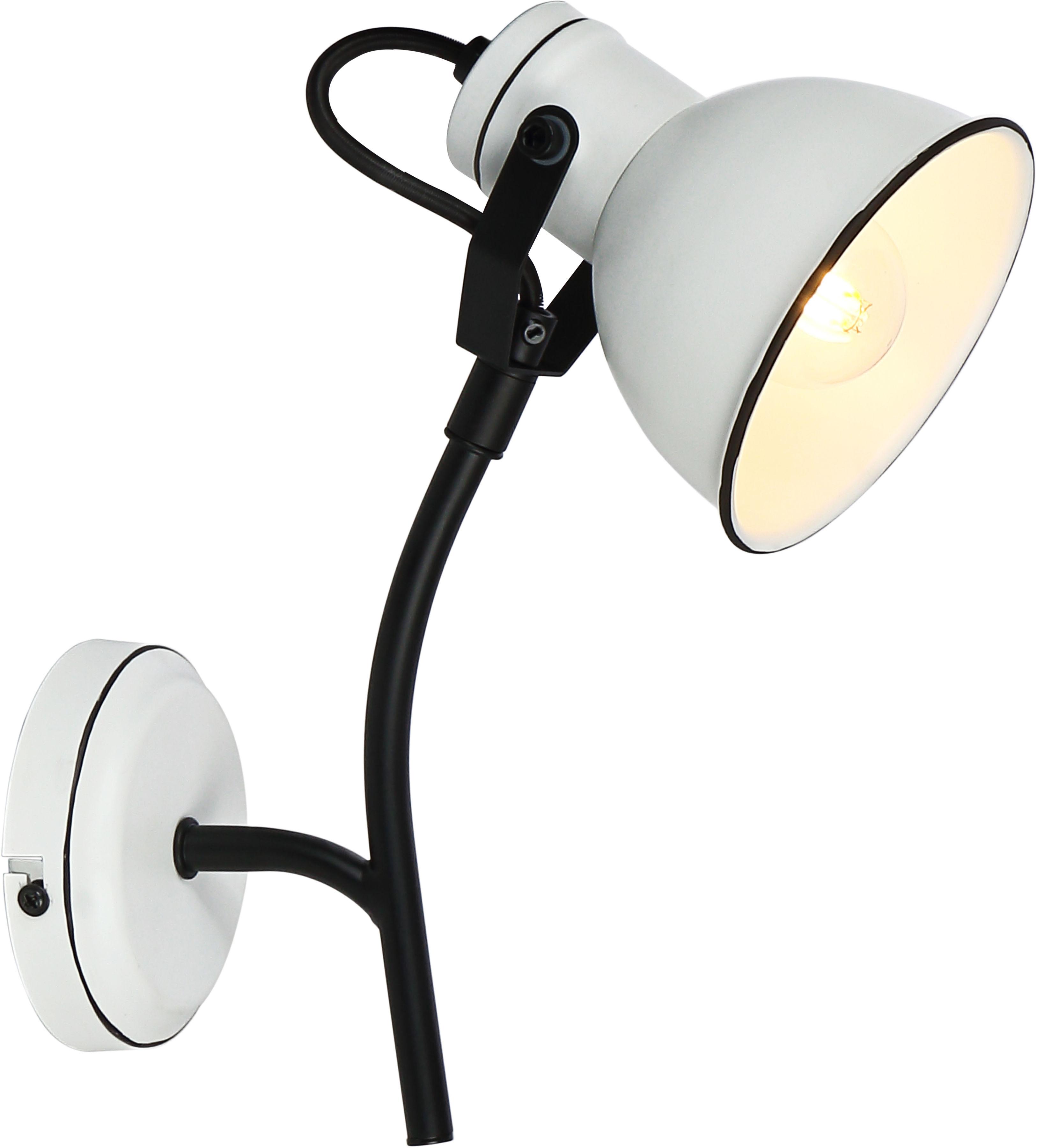 Candellux ZUMBA 91-72122 kinkiet lampa ścienna czarny + biały 1X40W E14