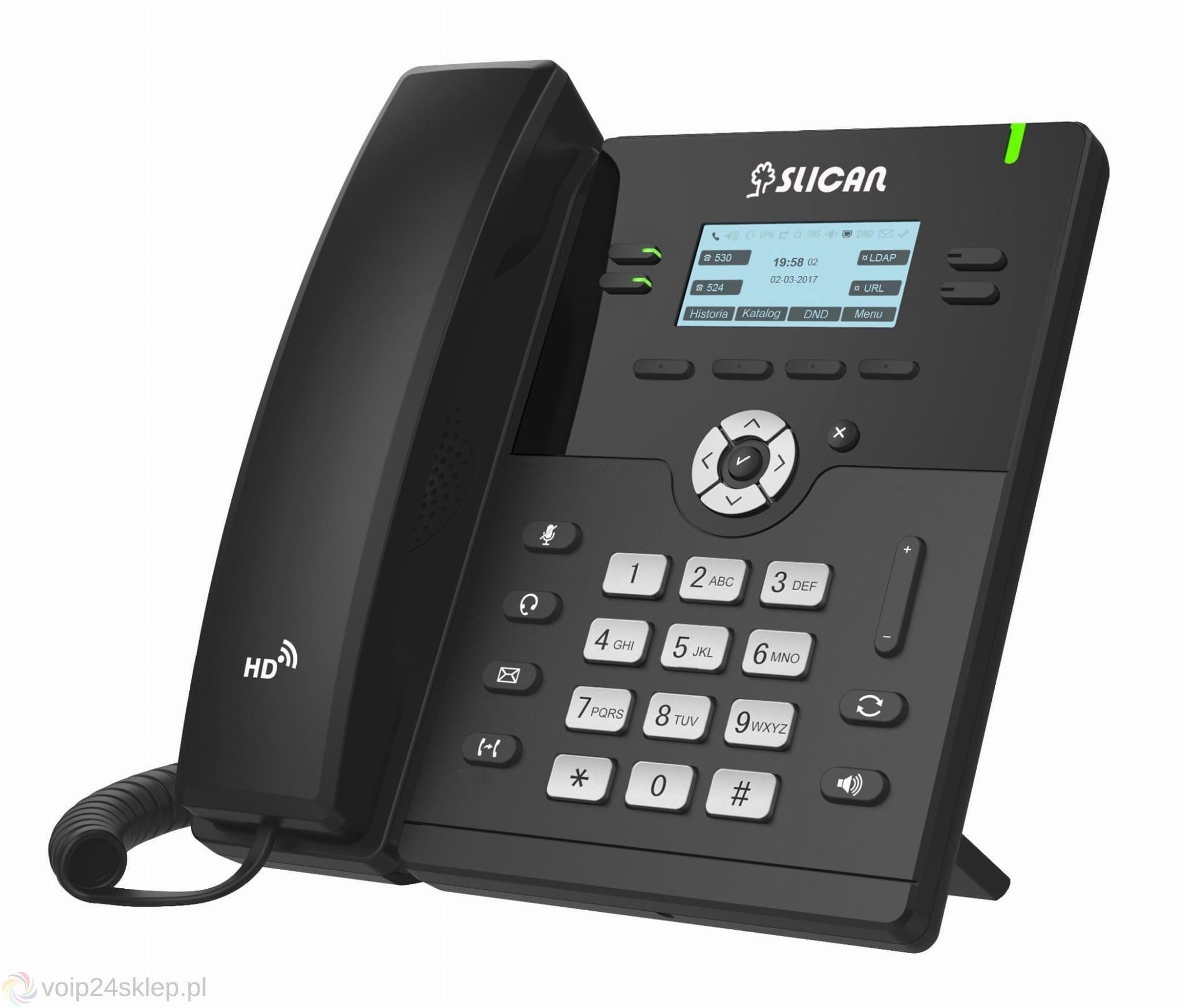 Slican VPS-912G - telefon VoIP 2 konta SIP