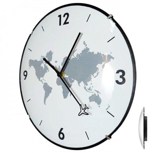 Zegar dookoła świata convex płynący /30cm