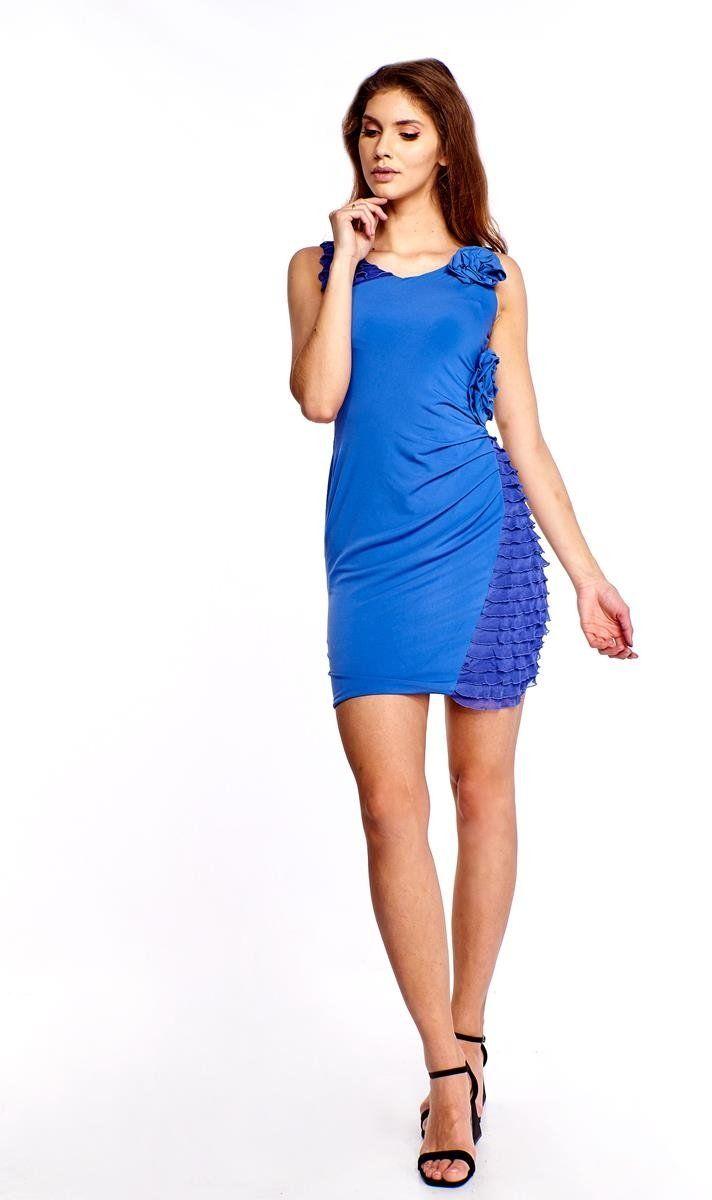 Sukienka FSU230 CHABROWY JASNY
