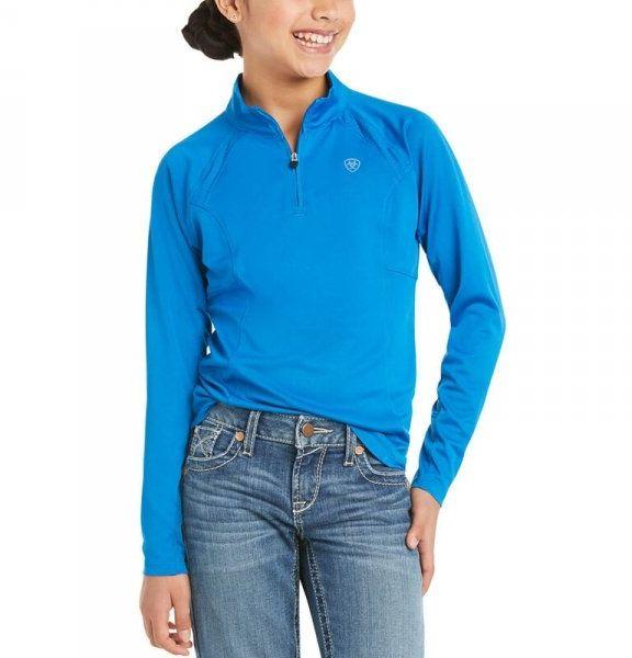 Bluzka młodzieżowa SUNSTOPPER 2.0 SS21 - Ariat - imperial blue