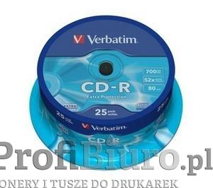 Płyty Verbatim CD-R 700MB 52x DL - Cake Box - 25 szt.