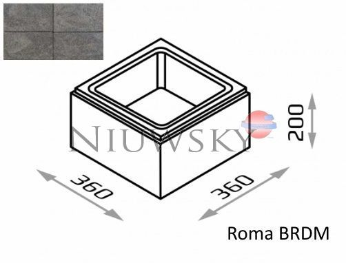 Bloczek słupkowy Roma BRDM 36/36/20 kolor gagat / Joniec