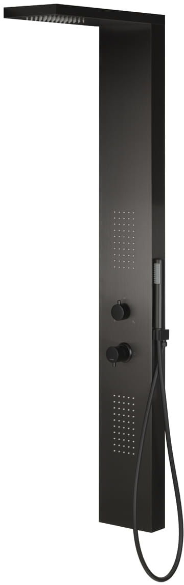 Corsan panel prysznicowy z mieszaczem TUGELA czarny S-029MTUGELACZARNY/BL