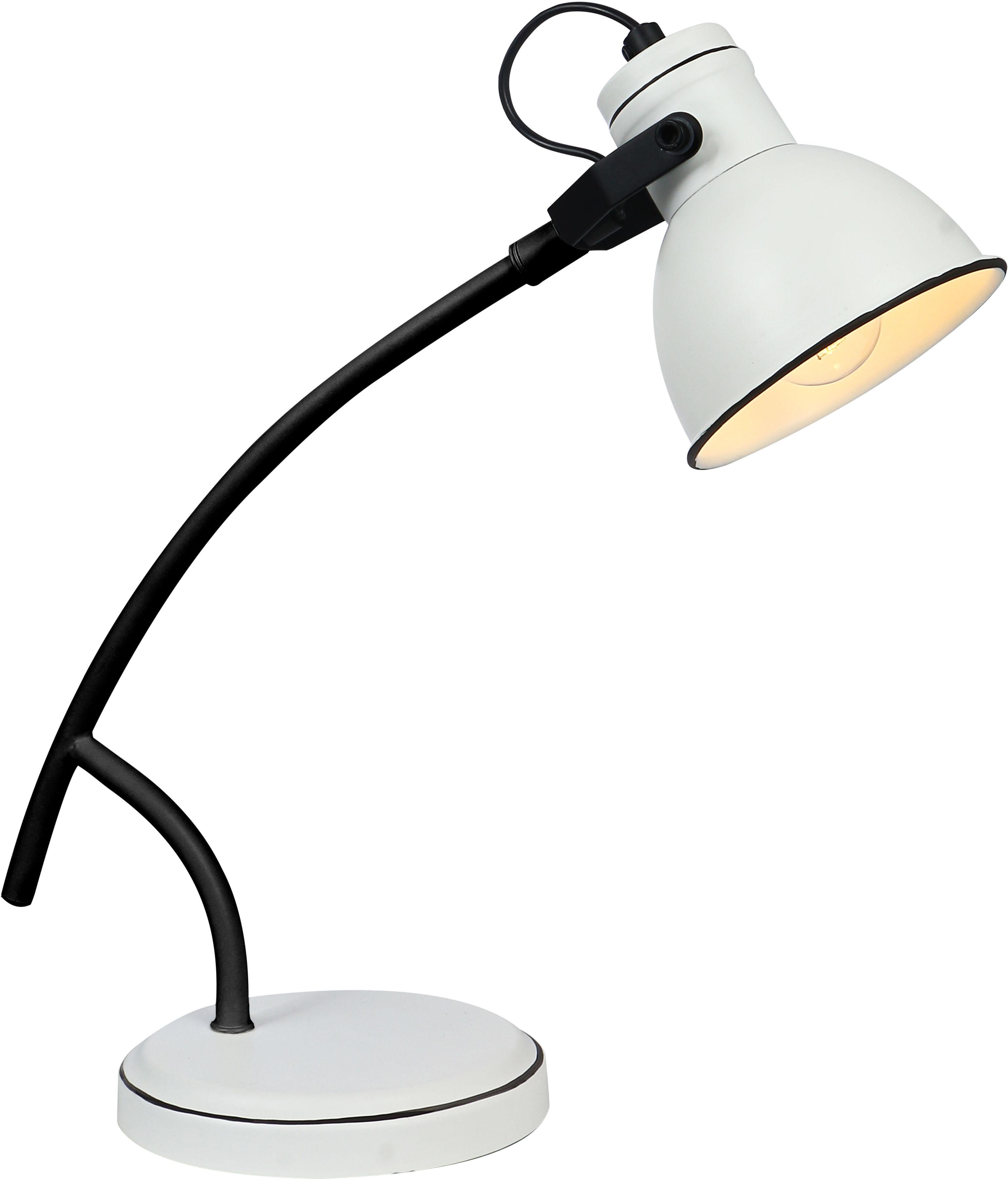 Candellux ZUMBA 41-72085 lampa stołowa gabinetowa czarny + biały 1X40W E14
