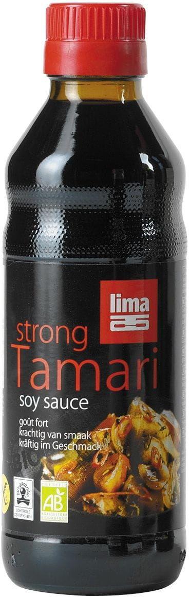 Sos sojowy tamari mocny bezglutenowy bio 250 ml - lima