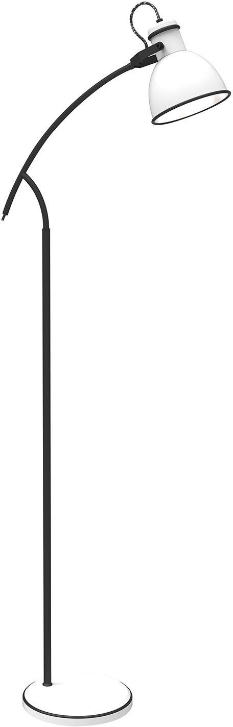 Candellux ZUMBA 51-72108 lampa podłogowa czarna z białym kloszem 1X40W E14