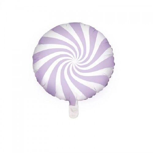 Balon foliowy Candy - Cukierek, jasny liliowy