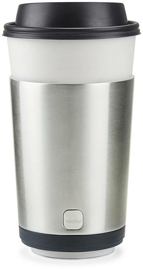 Termiczny pojemnik na kubek Asobu Insulated Cofee Kuzie - silver