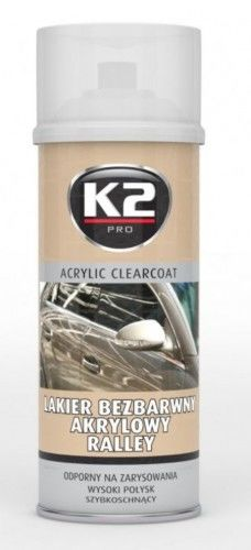 K2 Lakier bezbarwny akrylowy Rally spray 400 ml