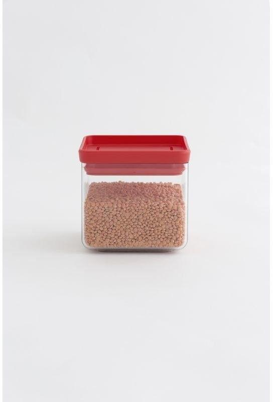 Brabantia - pojemnik kuchenny square 0,7 l - pokrywa czerwona