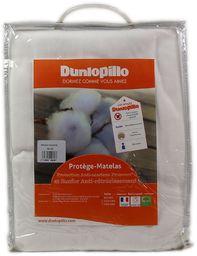 Dunlopillo PLSALPH140190DPO ochraniacz na materac, 140 x 190 cm, biały