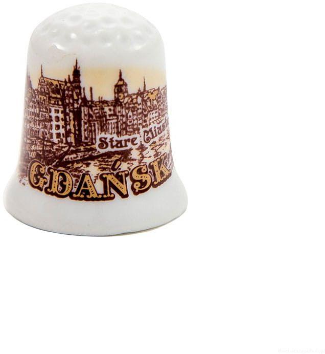 Naparstek ceramiczny Gdańsk panorama sepia