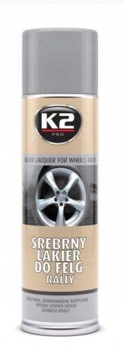 K2 Srebrny lakier do felg Rally Spray 500ml