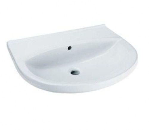Umywalka 50x43 cm ceramiczna bez otworu na baterię ,biała
