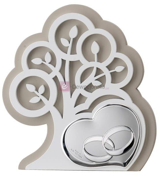 Obrazek srebrny - Ślub 14x15,5 cm