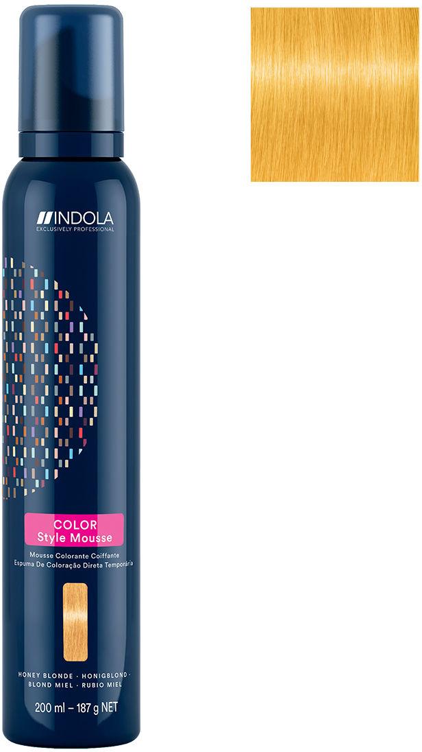 Pianka koloryzująca INDOLA Color Style Mousse Miodowy Blond 200ml