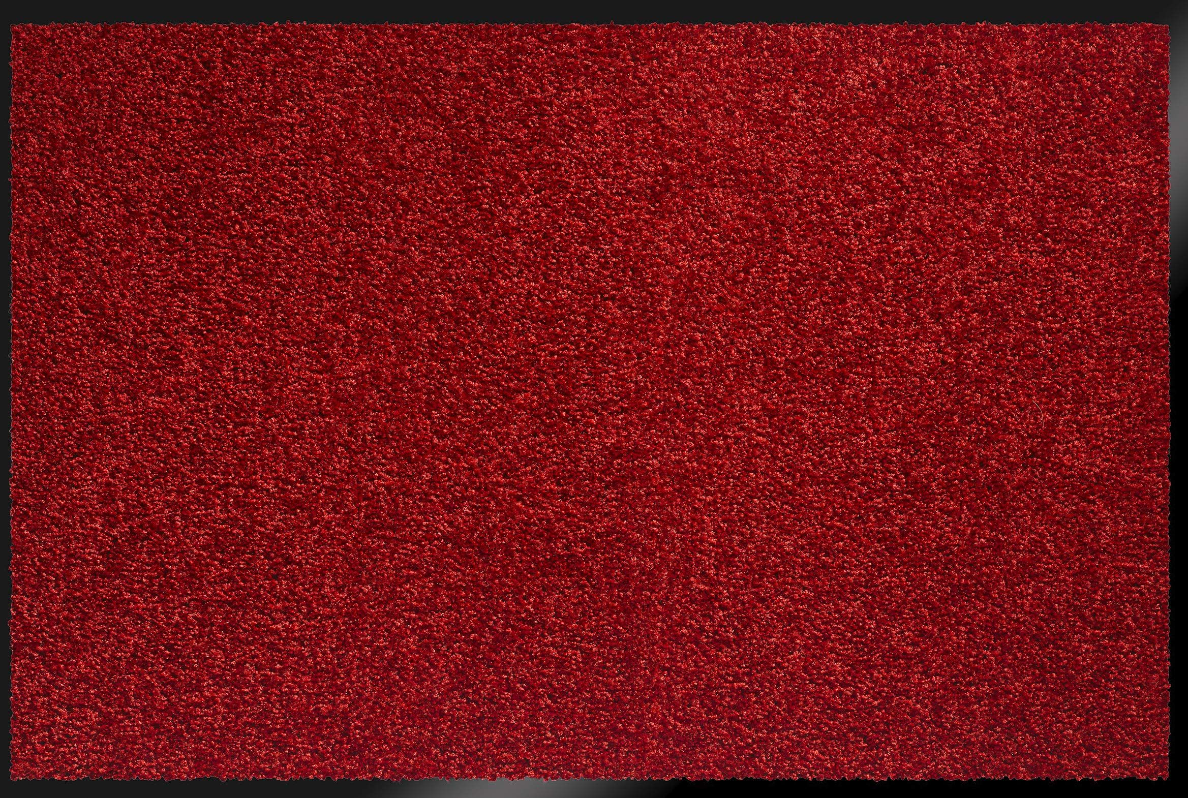 ID Matt 8012004 Mirande dywan wycieraczka włókno nylon/PCW gumowany czerwony 120 x 80 x 0,9 cm