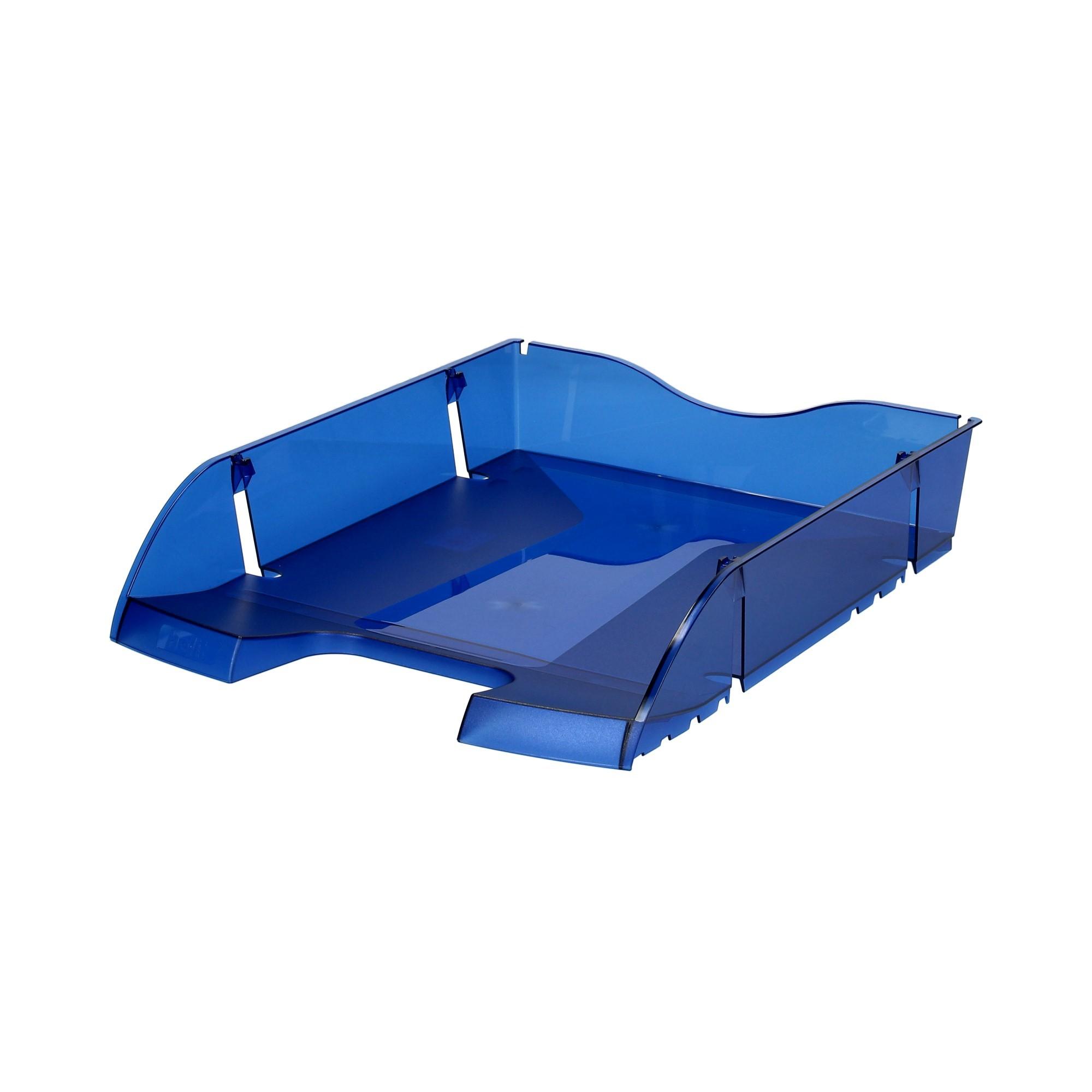 Półka na dokumenty A4 niebieska transparentna ekologiczna Helit
