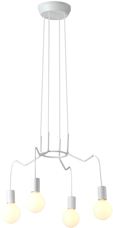 Candellux BASSO 34-71002 lampa wisząca biała matowa E27 4x40W 52cm