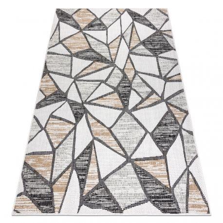 Dywan SZNURKOWY SIZAL COOPER Mozaika 22208 ecru / czarny 80x150 cm