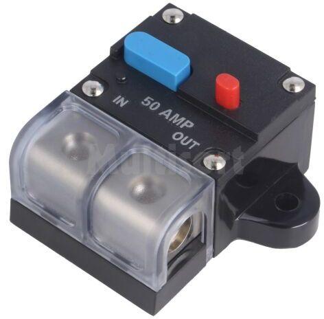 Bezpiecznik automatyczny samochodowy 50A czarny 12 48VDC