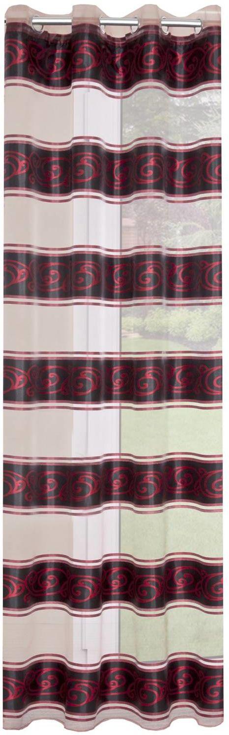 Zasłona Dekoracyjna Eurofirany Lisa Biały Czerwony 140x250 140x250