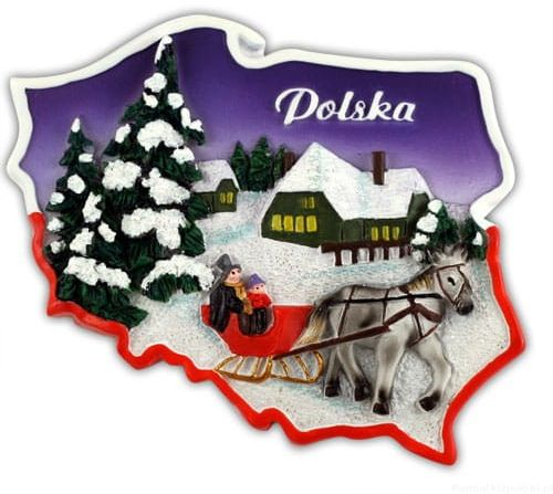 Magnes kontur Polska zima