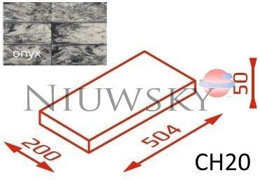 Daszek na murek CH20 50,4x20x5 onyx / Joniec
