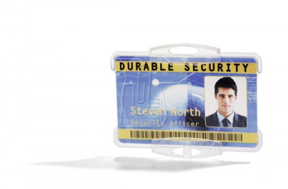 Etui do karty identyfikacyjnej otwarte 54x85mm przeźroczyste 10 sztuk /891819/