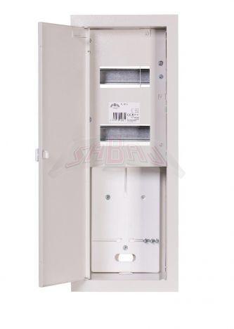 Rozdzielnica licznikowa podtynkowa 1-licznikowa 1-fazowy 12 modułów IP31 180x540x120 Biała z RL 1F 12E Z ZAMKIEM