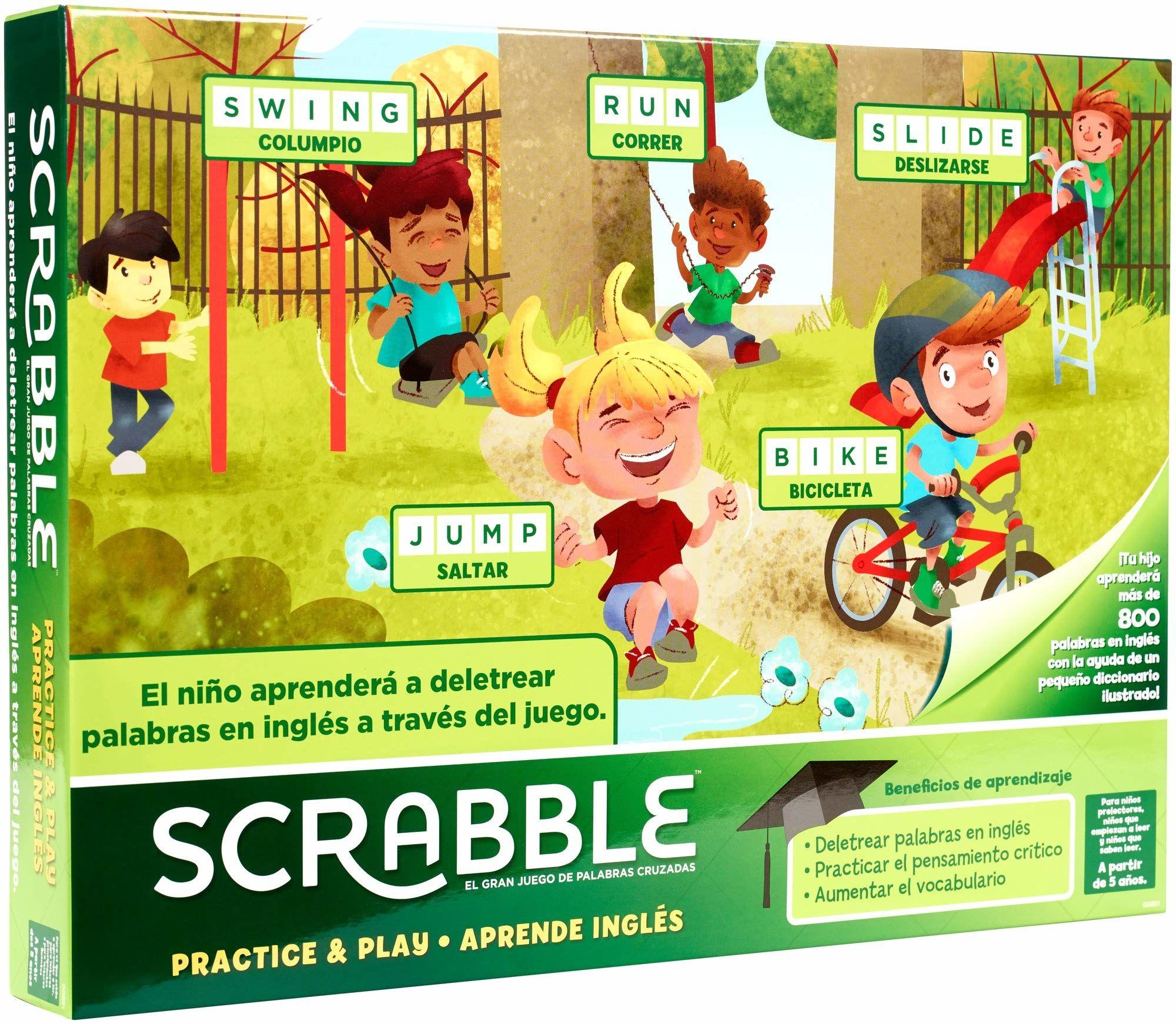 Mattel Games Scrabble Nauka angielskich gier planszowych (Mattel GGB31)