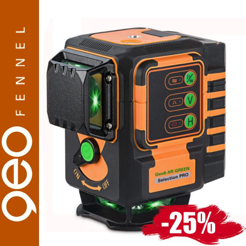 Laser krzyżowy Geo6-XR GREEN Geo-Fennel