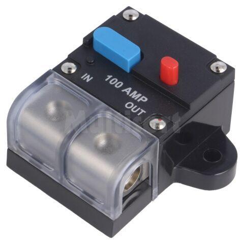 Bezpiecznik automatyczny samochodowy 100A czarny 12 48VDC