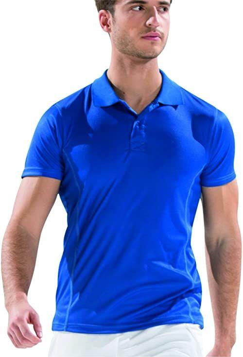 Asioka - 08/13 Techniczna koszulka polo z krótkimi rękawami, gładka, unisex, dla dorosłych. S Royal