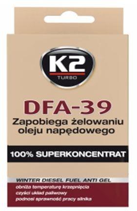 K2 DFA-39 50ml - przeciwko żelowaniu oleju napędowego